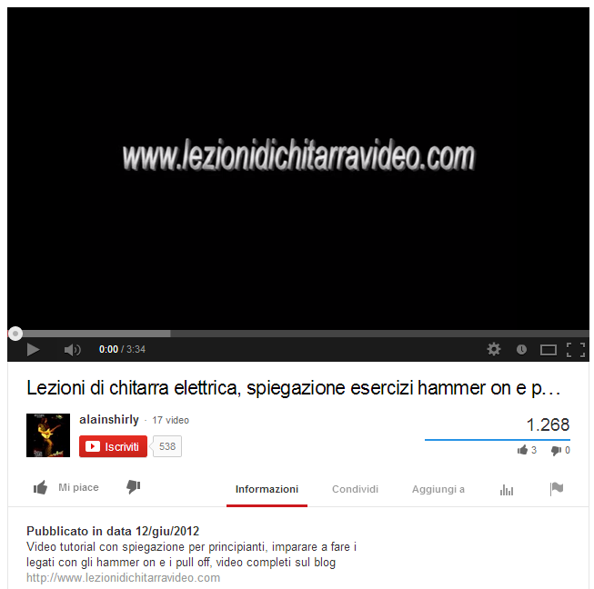 lezionidichitarravideo tutorial